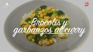 Brócolis y garbanzos al curry