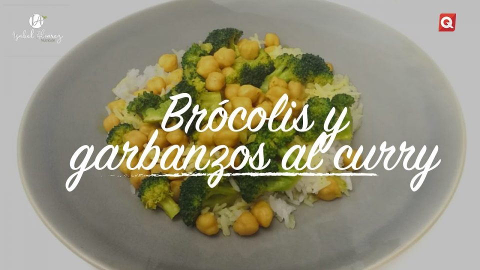 Brócolis y garbanzos al curry