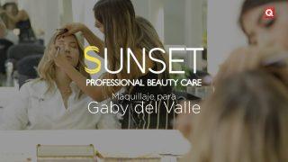 Sunset salón maquillaje para Gaby del Valle