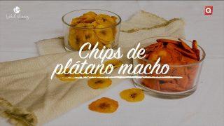 Chips de plátano macho