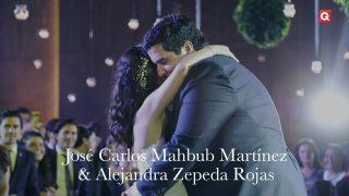 Boda de José Carlos Mahbub Martínez y Alejandra Zepeda Rojas