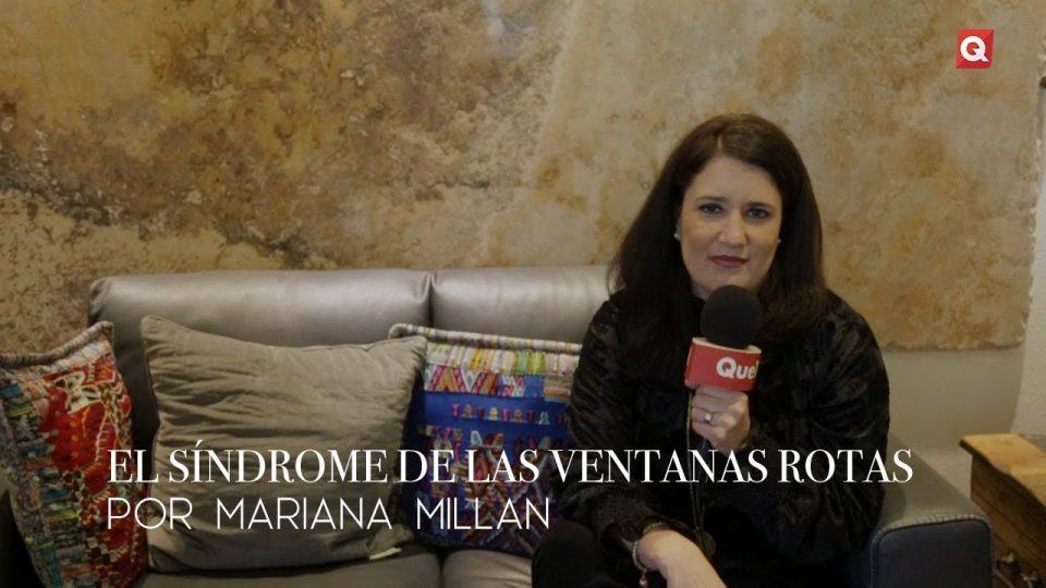 El síndrome de las ventanas rotas por Mariana Millán
