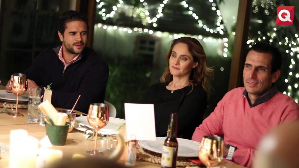 Cena navideña en casa de Lu López