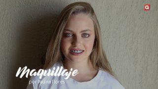 Paulina Flores maquillaje para Katia Raitanski