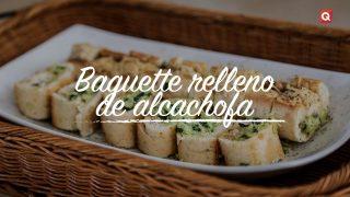 Baguette relleno de alcachofa