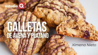 GALLETAS DE AVENA CON PLATANO Y COCO