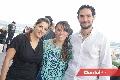 Claudia Ochoa, Marce Diliz y Carlos Martín del Campo.