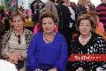 Graciela Berrones, Carmenchu Vilet de Torres y Lula Hernández.