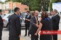 Recibiendo al Gobernador del Estado Juan Manuel Carreras.