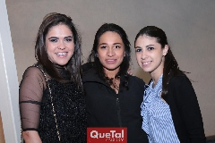 July Valle, Paola Jasso y Melissa Fernández.