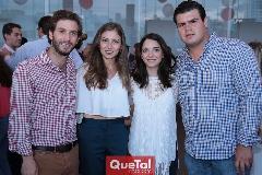 Andrés Torres, Chilis Treviño, Sofía Álvarez y Mauricio Labastida.