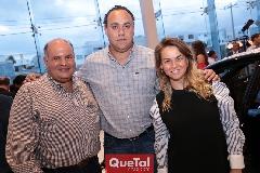 Elías Navarro, Paco Torres y Montse Torres.