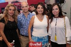 Mónica Torres, Luis González, Kikis Fernández y Elsa Tamez.