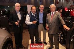 Juan Zárate, Rafael Villalobos, Eduardo Rueda y Octaviano Gómez.