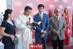 Lula López, Padre Rubén Pérez, Gabriel Torres López y Rubén López.