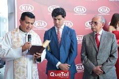 Padre Rubén Pérez, Gabriel Torres López y Rubén López.