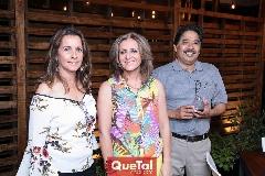 Marilú Meraz, Susana Hinojosa y Francisco Ledezma.