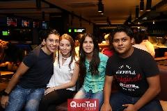Luis González, Ale Palao, Fabiola Rosillo y Armando Cardoso .