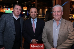 Jean Picard, Fernando Díaz de León y Luis Gómez.