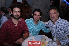 Roberto Abud, Roberto Mejía y Alejandro Abud.