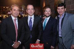 Federico Clariond, Ernesto López, Adrián Lozano y Hernán Martínez.