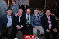 Ramiro Rodríguez, Juan Carlos Barrón, Héctor Hinojosa, Aurelio Cadena y Juan Carlos Barrón.