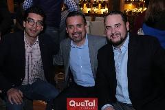 César Tobías, Mauricio Castañón y Gilberto Solis.