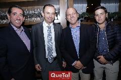 Félix Bocard, Alejandro Pérez, Roberto y Aurelio Cadena.