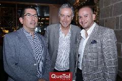 Gerardo Bocard, Federico Mc Gregor y Luis Tapia.