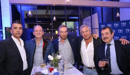 Ban Guils, Manuel Del Valle, Anastasio Kapetains, Fernando Abud y José Antonio Zarur.