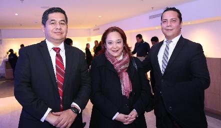 Amador Osorio, Carmen Yáñez e Iván Hernández.