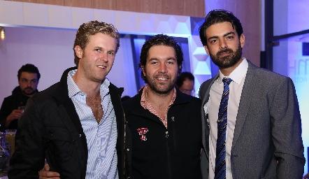 Diego García, Alejandro Zamanillo y Roberto Abud.