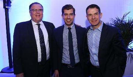 Arturo Freyjofer, Álvaro Sánchez y Juan Carlos Reus.
