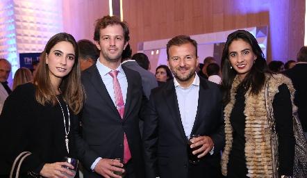 Lorena Andrés, Alejandro Abud, José Ángel Esteban y Melissa Andrés.