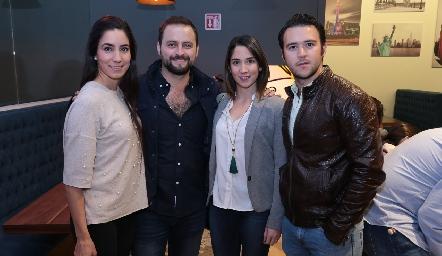 Daniela Boelsterly, Juan José Dibildox, Lulú Álvarez y Alfonso César.