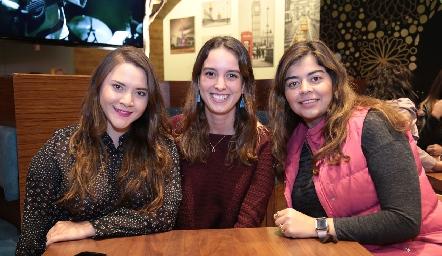 Alejandra Gastellum, Ana Paola Fernández y María José Motilla.