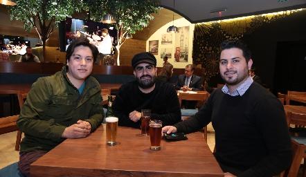 Andrés Garrigós, Antonio Monzón y José García.
