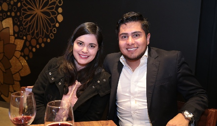Daniela González y Carlos Peralta.