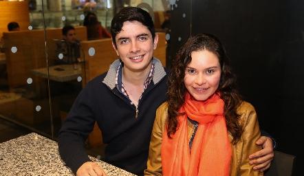 Ricardo Díaz y María José Carvajal .