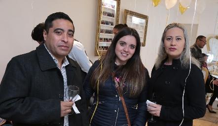 Alejandro Mauricio, Ale Escobar y Rocío Sauceda.
