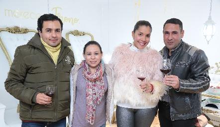 Francisco Moreno, Mariana Estrada, Maryalex y Amin.