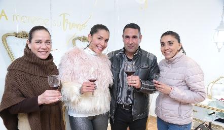 Gabriela Jaimes, Maryalex, Amin  y Fabiola Vidales.