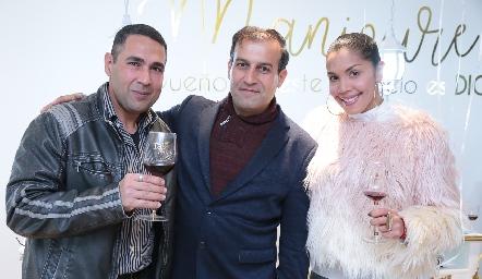 Amin Rafic Nasserdine, Emilio y Maryalex.