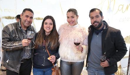 Amin, Alejandra Escobar, Maryalex y Emilio.