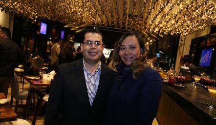 José Cervantes e Hilda Pier.