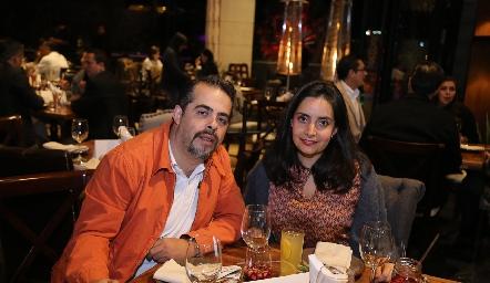 Juan Arredondo y Marilú Palafox.