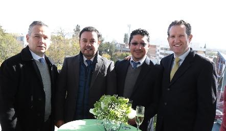 Héctor Galán, Edgar Durón, Juan Manuel García y Juan Carlos Rubín de Celis.