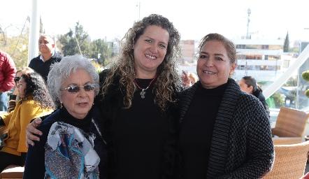Silvia Monterubio, Susana Rubín de Celis y Patricia Quiroz.