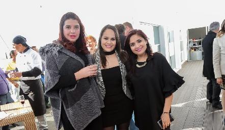 Marcela Zavala, Jessica Rueda y Laura Rangel.