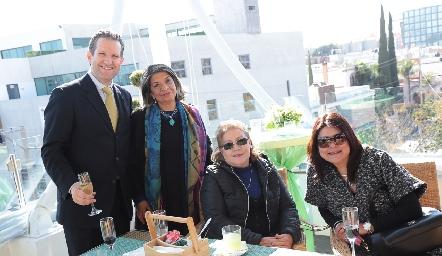 Juan Carlos Rubín de Celis, Coco Lucio, Mónica Villalba y Marcela García.